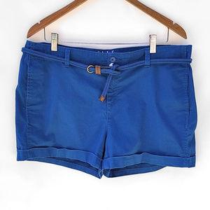 Elle Cuffed Chino Cotton Summer Shorts